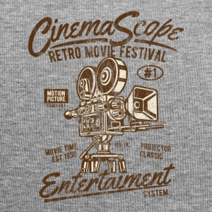 CINEMA SCOPE - Kino und Kamera Shirt Motiv - Jersey-Beanie