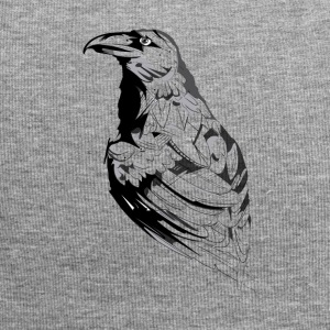 Crow black and white sketch - Jersey Beanie