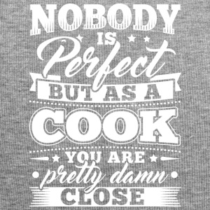 Funny Cook Cooking Shirt Nobody Perfect - Jersey Beanie