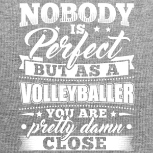 Funny Volleyball Player Shirt Nobody Perfect - Jersey Beanie