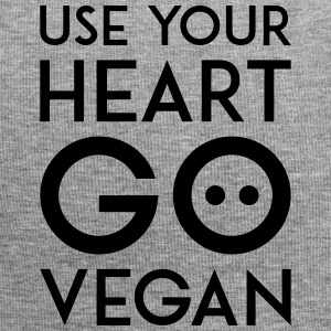 USE YOUR HEART GO VEGAN black - Jersey Beanie