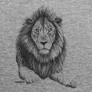 Scribbled Lion - Jersey-Beanie