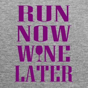 Run now Wine later - Jersey-Beanie
