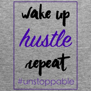 wake up, hustle, repeat - Jersey Beanie