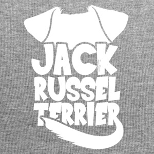 Jack Russel Terrier silhouette - White - Jersey Beanie
