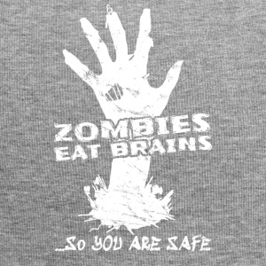 Scary Halloween Costume Shirt Zombies Brain 2 - Jersey Beanie
