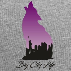 Wolf in New York Design - Big City Life - Beanie in jersey