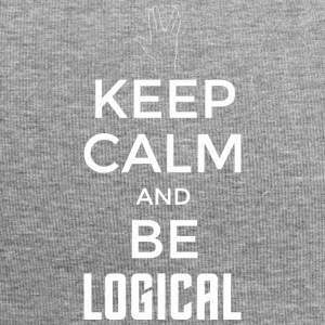 Keep Calm and be logical (light) - Jersey Beanie