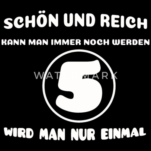5 Geburtstag Lustiger Spruch Beanie Spreadshirt