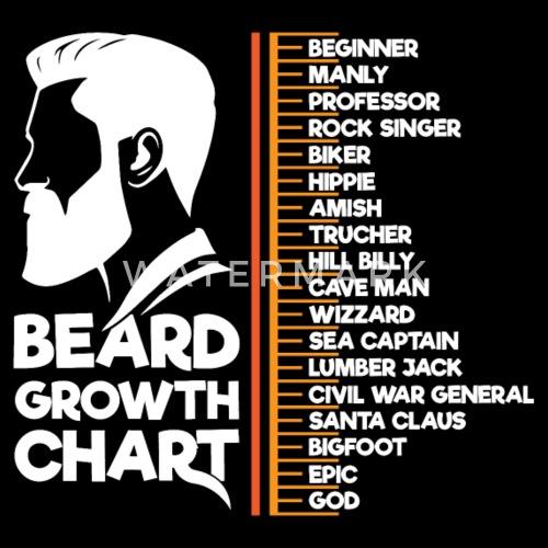 Beard Growth Chart Funny Bearded Man Gift Beanie Spreadshirt