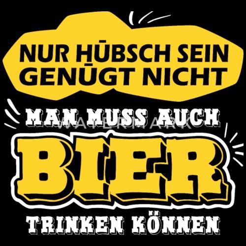 Bier Trinken Alkohol Lustige Spruche Beanie Spreadshirt