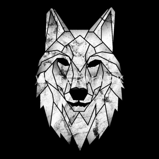 Wolf Polygoon Poly Driehoek Tattoo Wolven Cadeau Beanie