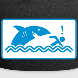 Warning: Beware Of Sharks - Jersey Beanie