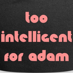 too intelligent for adam - Jersey-Beanie