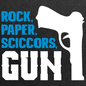 Funny rock paper scissors and gun - Jersey Beanie