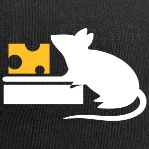 A Mouse Eating Cheese From The Mousetrap - Jersey Beanie