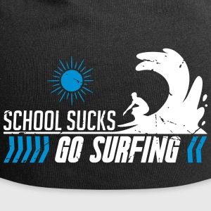 School sucks go surfing - de zomer - surfin - surfing - Jersey-Beanie