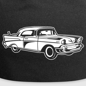 Chevy Bel Air / Oldtimer 01_white - Jersey Beanie