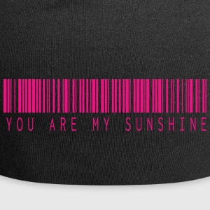 YOU ARE MY SUNSHINE BARCODE PINK - Jersey Beanie
