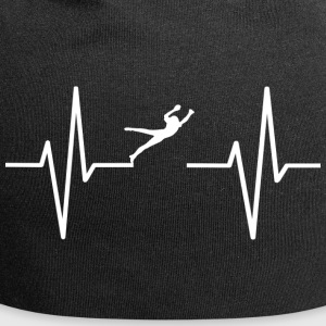 My heart beats for football! present - Jersey Beanie