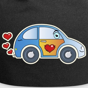 Kids car toy car heart colorful cheerful children - Jersey Beanie
