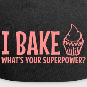 Ich backe was Ihre Superpower / I backen - Jersey-Beanie