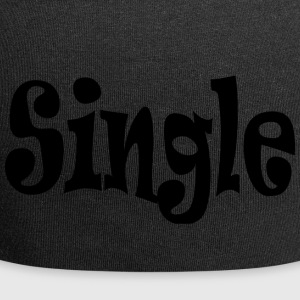 single Black - Czapka krasnal z dżerseju