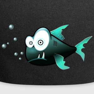 Poisson avec requin cartoon dents - Bonnet en jersey
