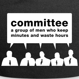 Committee - Men Waste Time! - Jersey Beanie