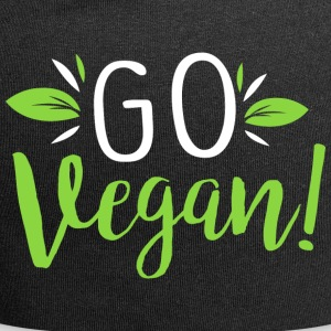 Go Vegan Become Vegan and live healthy - Jersey Beanie