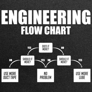 Funny Engineering flow chart duct tape - Jersey Beanie