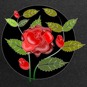 Rose Ornament - Jersey-Beanie