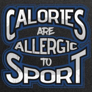 Calories are allergic to sport 2 - Jersey Beanie