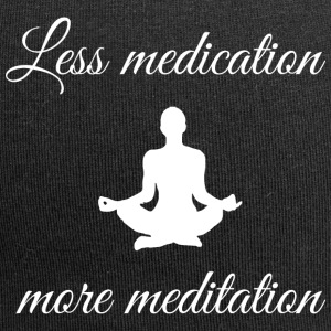 Less medication, more meditation - Jersey Beanie