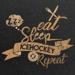 EAT SLEEP icehockey REPEAT - Czapka krasnal z dżerseju
