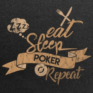 Eat Sleep POKER REPEAT - Beanie in jersey