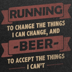 Funny Quotes> Running + Beer - Jersey Beanie