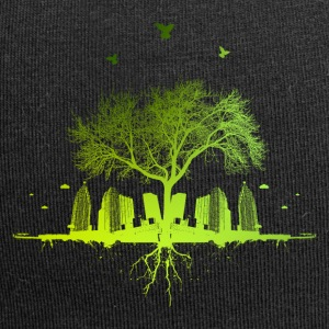 Green tree - nature tree city urban - Jersey Beanie