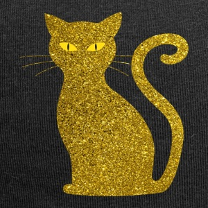 Golden Cat - golden Cat Gold Glitter Glitter - Jersey-beanie