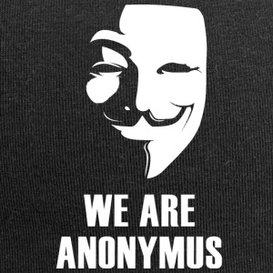 anonymus we are mask demonstration white revolutio - Jersey Beanie