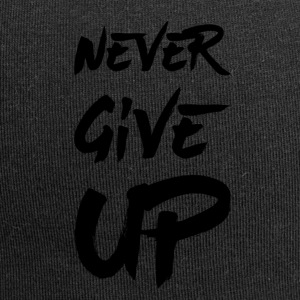 Never Give Up - Czapka krasnal z dżerseju
