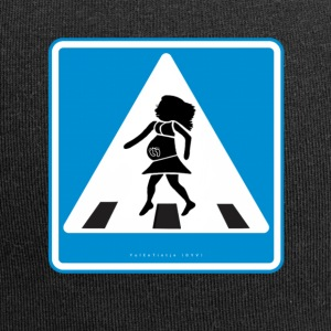 Traffic sign: Pregnancy blue / pregnancy blue - Jersey Beanie