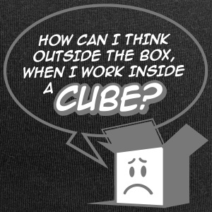 Cant Think Outside The Box,I'm In A Cube! - Jersey Beanie