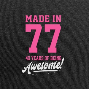 MADE IN 1977 - 40 ° COMPLEANNO - Beanie in jersey