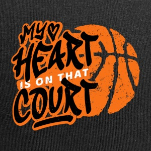 Basketball My heart is on that court. B-ball game - Jersey Beanie