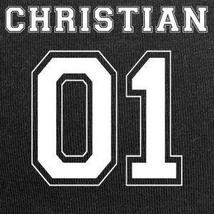 Christian 01 - White Edition - Beanie in jersey