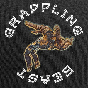 GRAPPLING BEAST (APE VS JAGUAR) NAVY - Jersey Beanie