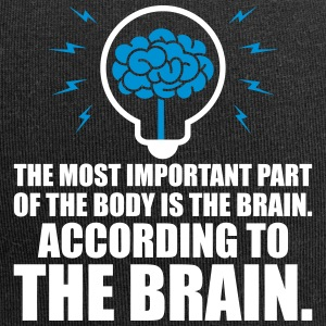 Most important of the body is brain - Jersey Beanie