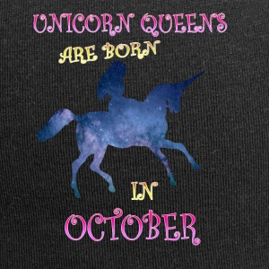 unicorn queens are born in october - Jersey-Beanie