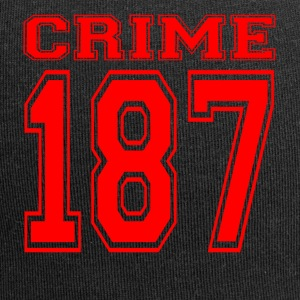 Crime 187 crime street criminal red - Jersey Beanie